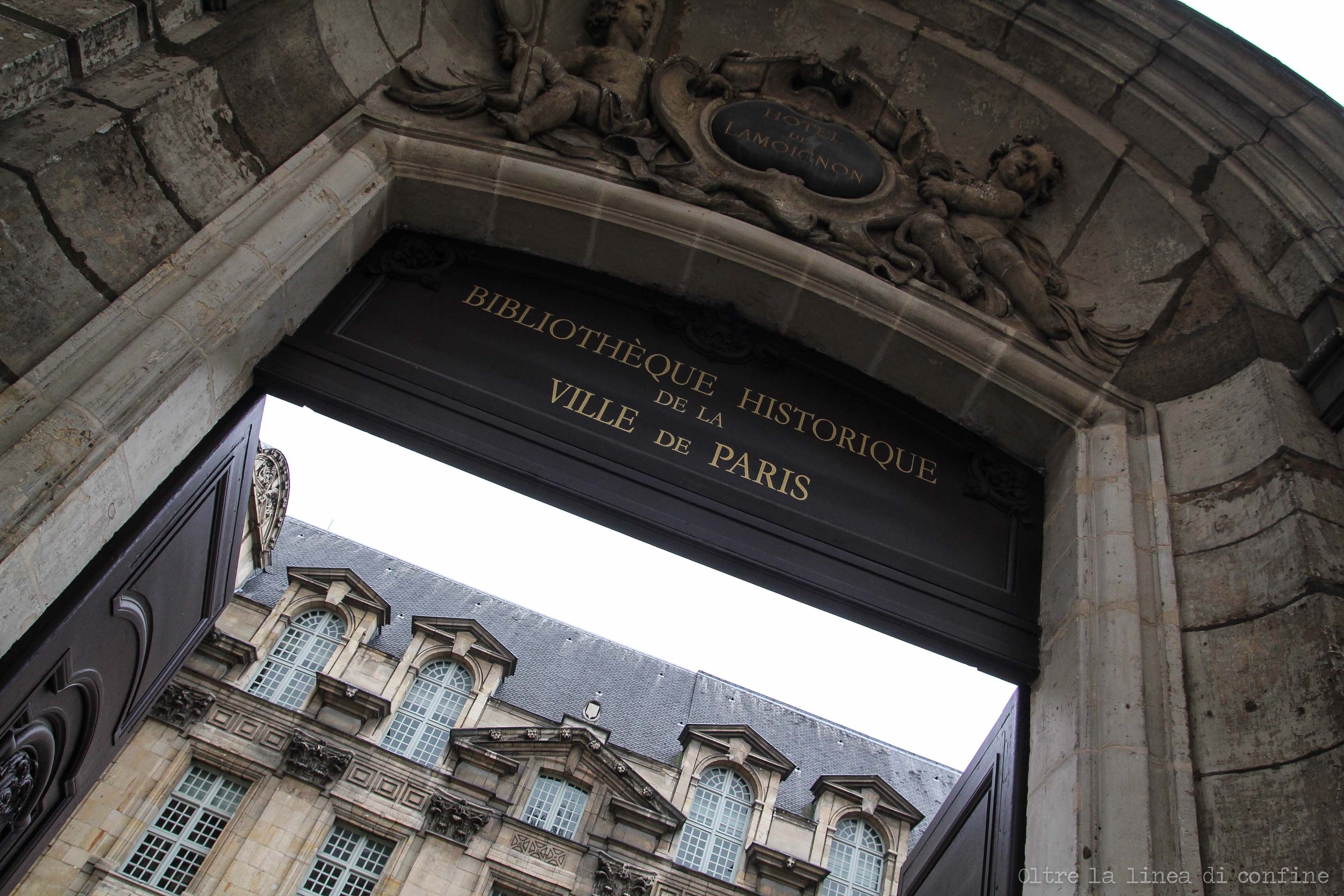Parigi Biblioteca Storica Marais