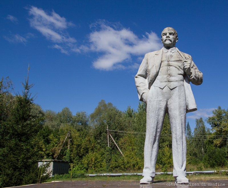 Chernobyl Oggi Statua di Lenin