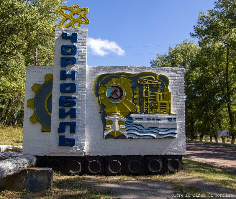 Chernobyl Insegna Città Sovietica Soviet City Road Sign