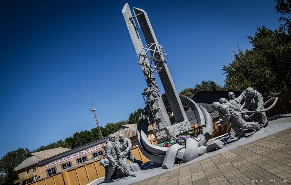 Chernobyl Fireman Monumento Pompieri