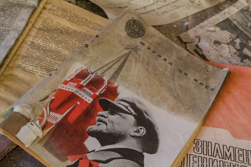 Soviet Propaganda Lenin Chernobyl Pripyat CCCP URSS