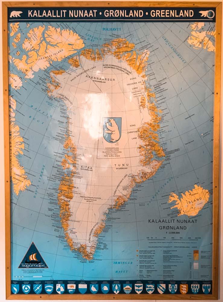 Groenlandia Mappa