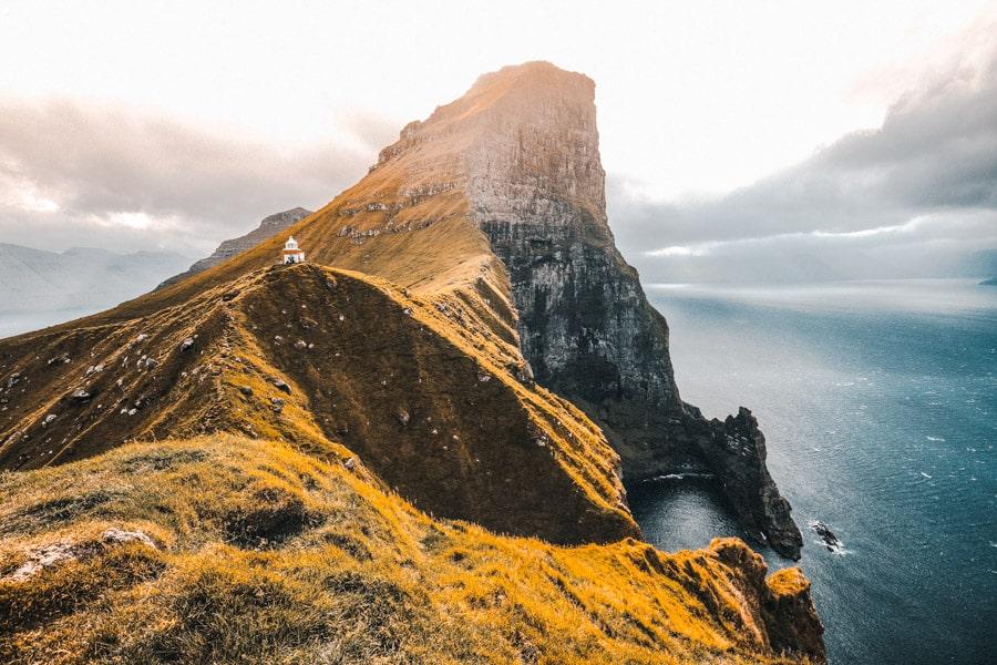Kallur Lighthouse Kalsoy Isole Faroe